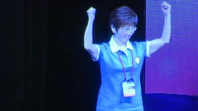 Presidential candidate Hung Hsui-chu