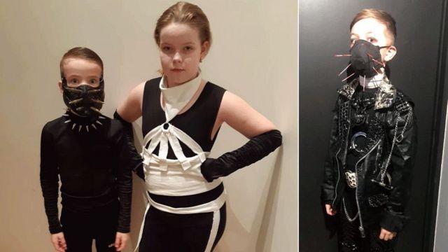 дети в металл-костюмах