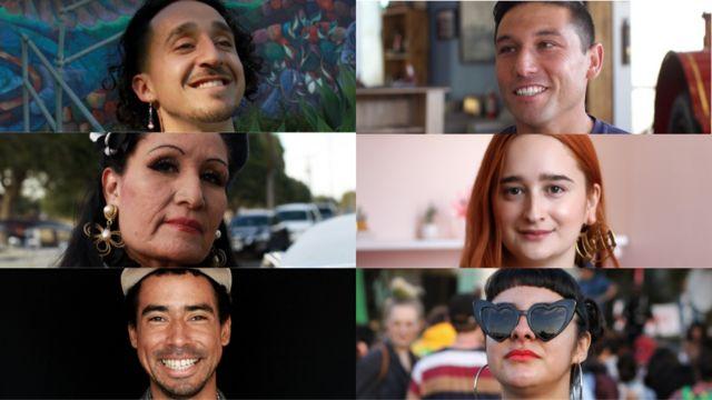 Un grupo de latinos que entrevistamos en el viaje de Hablas Español