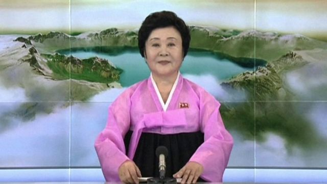 North Korean TV announcer