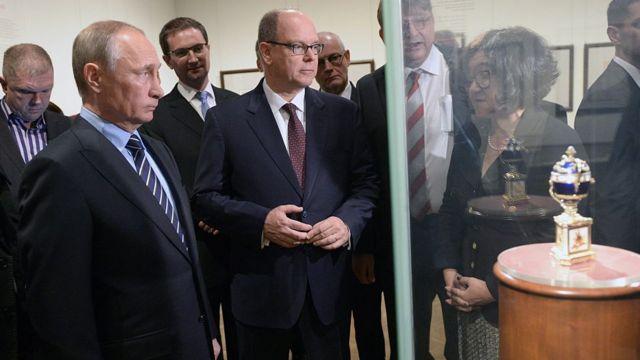Путин и князь Монако
