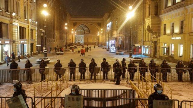 حضور ماموران امنیتی در سنپترزبورگ