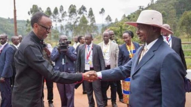 Kagame na Museveni wakutana mpakani Gatuna