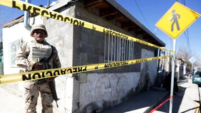 Soldado en Ciudad Juárez
