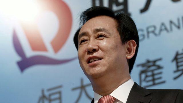 许家印在香港出席恒大房地产新闻发布会(资料图片)