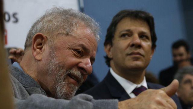 Lula com Haddad em foto de arquivo