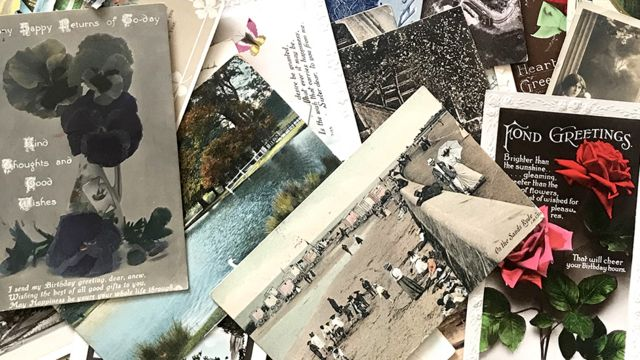 Stu Prince has thousands of postcards in his collection.