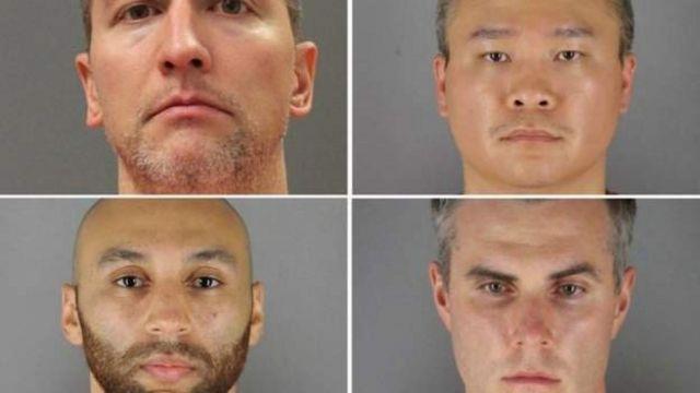 George Floyd'un öldürülmesiyle suçlanan polis memurları