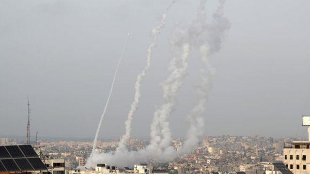 Hamas'ın Gazze'den İsrail'e fırlatığı roketler