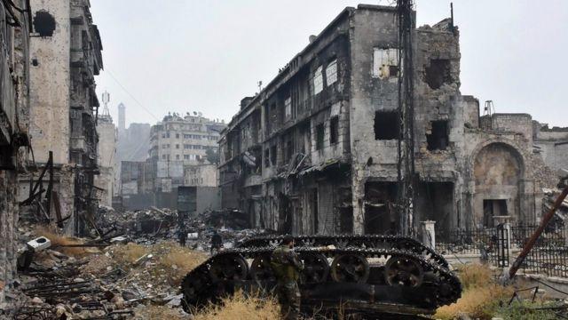 صورة للدمار في حلب