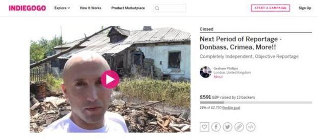Філліпс знову просить пожертвувати йому гроші для того, щоб залишитися на сході України