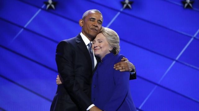 Обама и Хиллари Клинтон