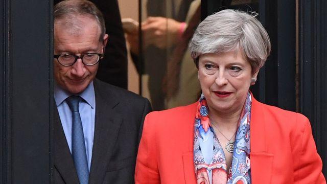 Theresa May e seu marido Philip