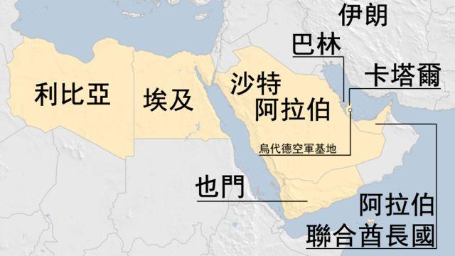 地圖:卡塔爾被集體斷交事件