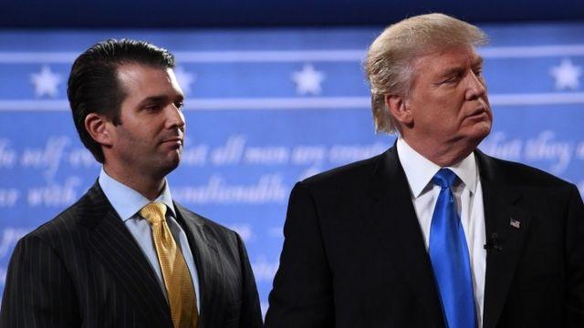 Дональд Трамп-старший и Дональд Трамп-младший