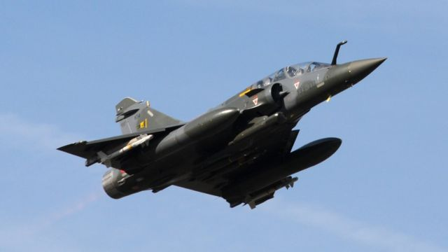 Mirage 2000 tipi uçak Fransız filosunda da var.