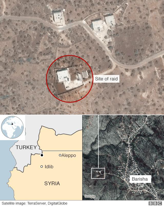 Eneo alilokuwa kiongozi huyo wa Islamic State Syria