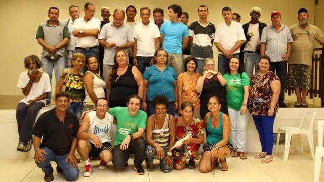 Grupo de filhos de pacientes que foram separados dos pais, pacientes de hanseníase