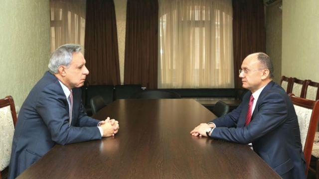 Seyran Ohanyan və Vardan Oskanyan