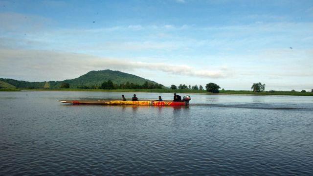 Sepik river passenger speedboat