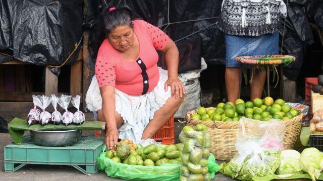 Mercado en El Salvador