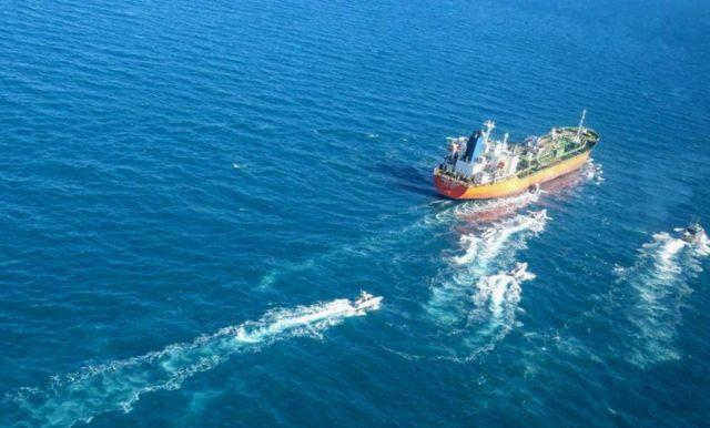 توقیف نفتکش کره ای