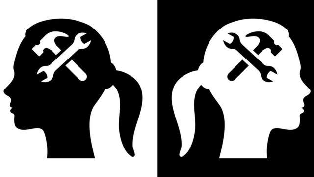 Figuras blanco o negro.