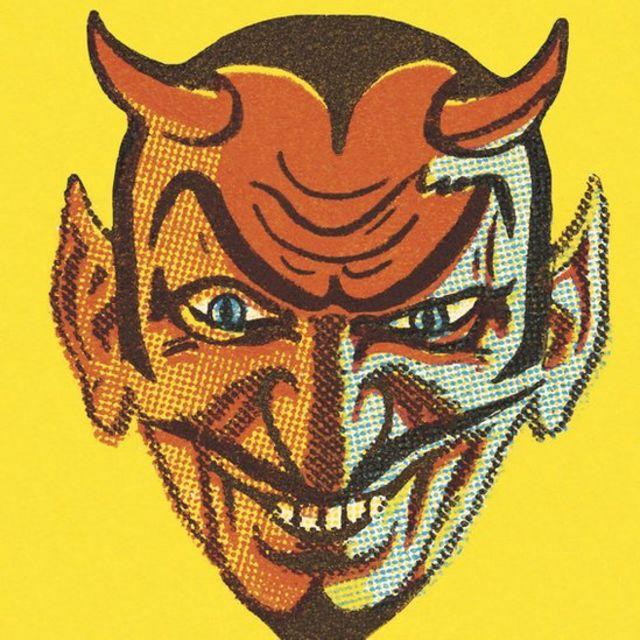 Ilustração moderna do diabo