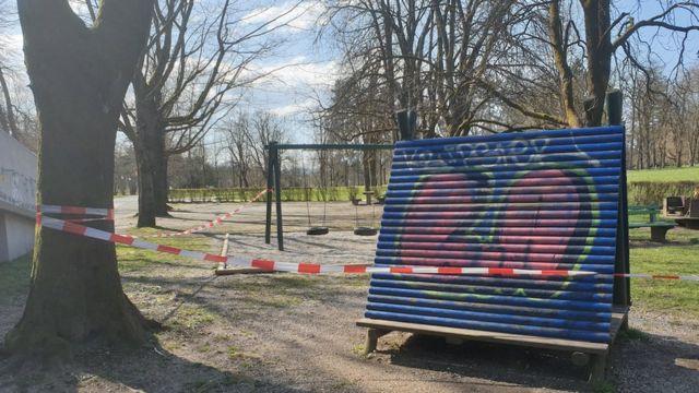 Ljubljana'daki bu parkta salgının ardından kimseye rastlamak mümkün değil