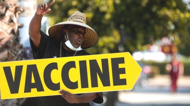 Vaccine drive in LA