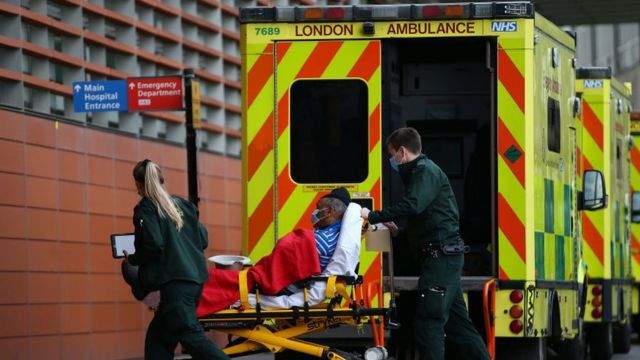 Ambulancia en Londres.