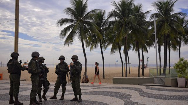 Militares en Rio de Janeiro