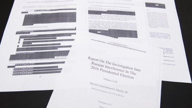 بخشهایی از گزارش مولر سیاه شده است و باقی در اختیار رسانهها قرار گرفته است