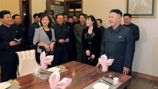 Kim Jong with His Wife