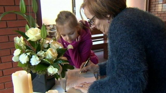 book of condolence opened in derry