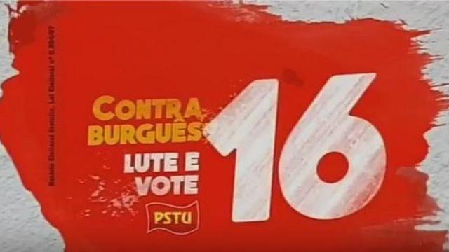 Peça publicitária do PSTU que foi ao ar na campanha na televisão no Rio de Janeiro