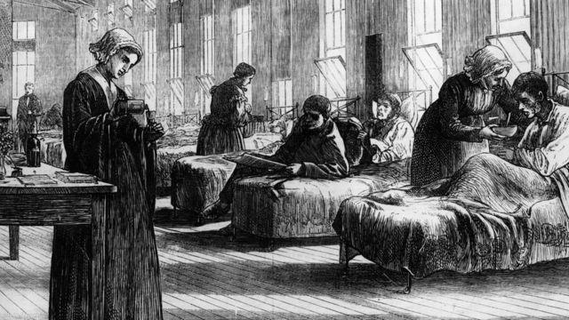 Eine undatierte Illustration, die die erste Pockenimpfkampagne des englischen Arztes Edward Jenner zeigt, die 1796 durchgeführt wurde.