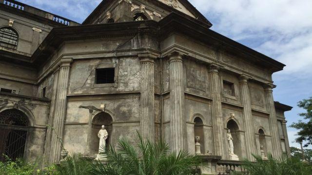 Detalle de la catedral vieja de Managua