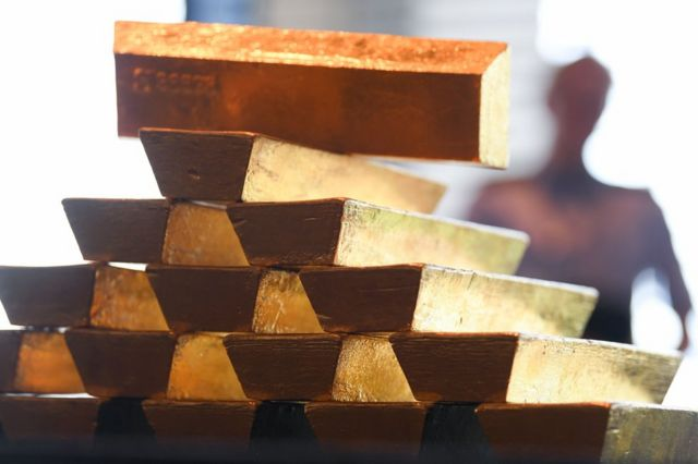 Gold bars at Germany's Bundesbank