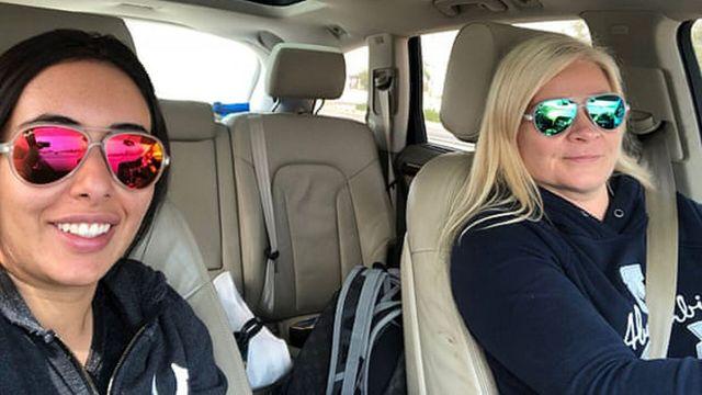 الشيخة لطيفة وتينا جاوهيانين في المرحلة الأولى من رحلتهما في عام 2018