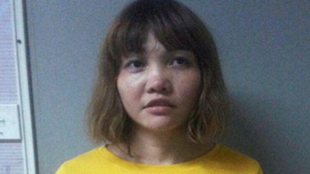 杀死金正男的越南籍嫌疑人。