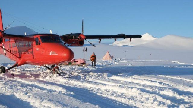 Plane in the Antarctic