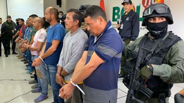 venezolanos arrestados por el gobierno interino de Bolivia.