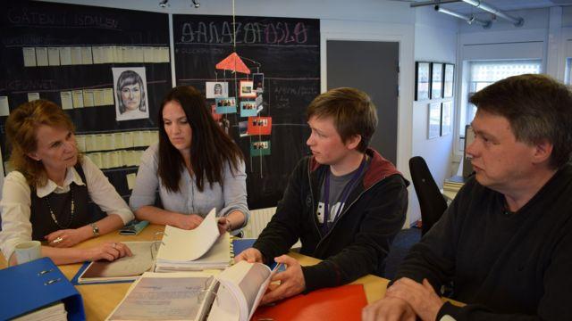 Истраживачки тим НРК (слева надесно): Марит Хиграф, Ејрин Ардал, Ојвинд Бај Скиле и Стале Хансен