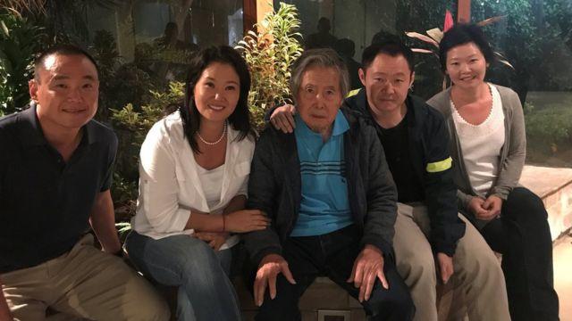 La familia Fujimori luego del indulto de Alberto Fujimori.