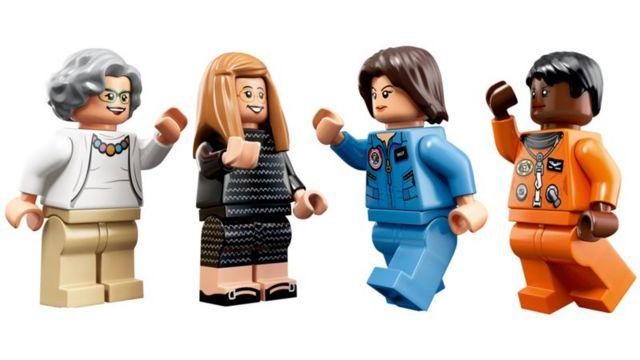 Legos de Sally Ride, Mae Jemison, Nancy Grace Roman y Margaret Hamilton