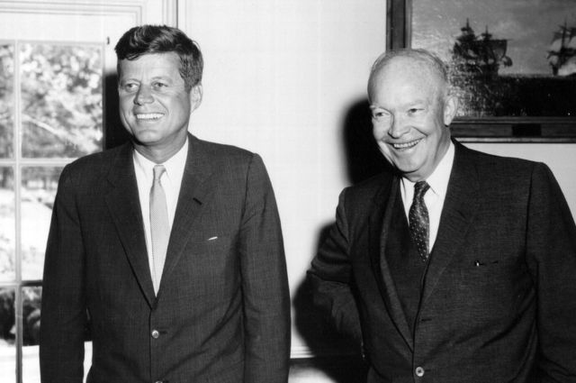 Джон Кеннеди и Дуайт Эйзенхауэр