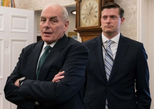 بورتر ورئيس موظفي البيت الأبيض، جون كيلي