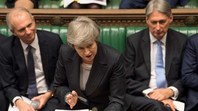 Theresa May speaking in the House of Commons