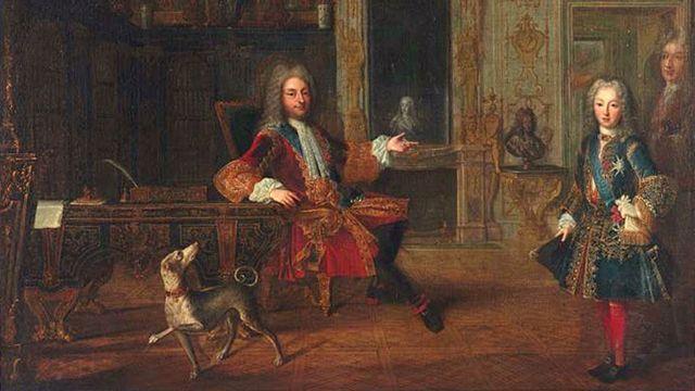 Regente de Francia, con el niño rey.